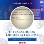 Live: O Trabalho do Linguista Forense